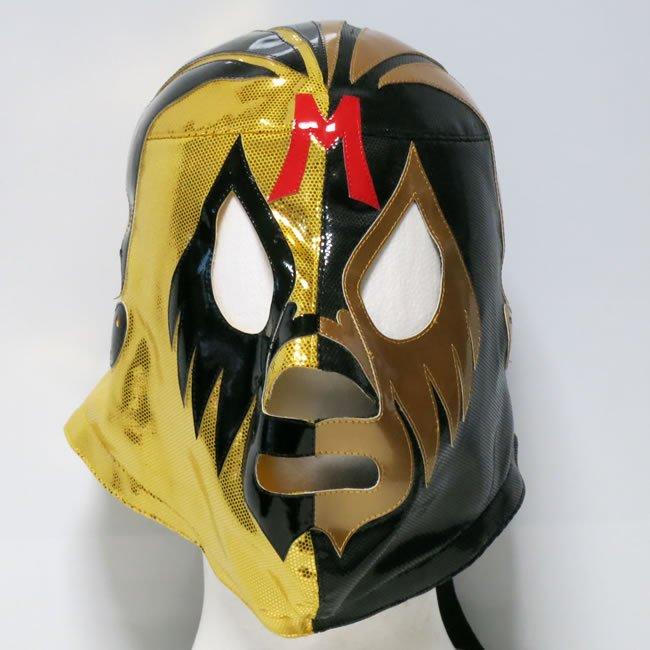 仮面貴族 ミル・マスカラス ハーフマスク 金×黒 セミプロマスク  KM22883
