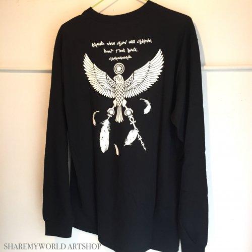 Eagle Long sleeve T-shirt【Black,Gray】