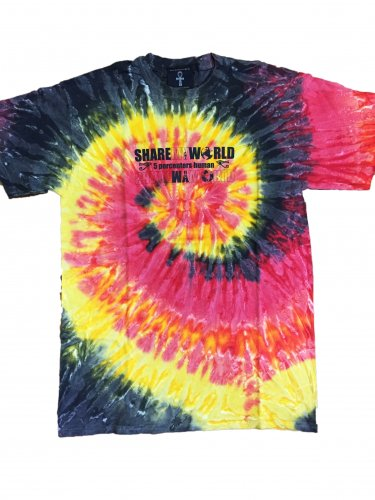 <img class='new_mark_img1' src='//img.shop-pro.jp/img/new/icons15.gif' style='border:none;display:inline;margin:0px;padding:0px;width:auto;' />Sunshine Tie Dye T-shirt【black×red×yellow】