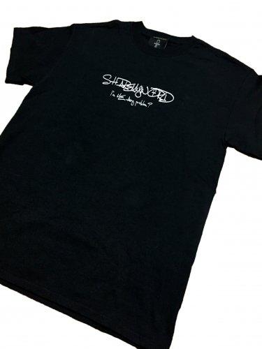 Script T-shirt【White,Black】