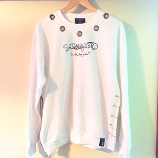 <img class='new_mark_img1' src='//img.shop-pro.jp/img/new/icons15.gif' style='border:none;display:inline;margin:0px;padding:0px;width:auto;' />Custom sweat shirt【White】