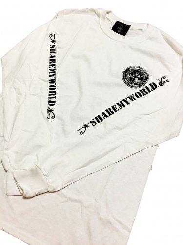 Ankh circle Long sleeve T-shirt【White,Black】