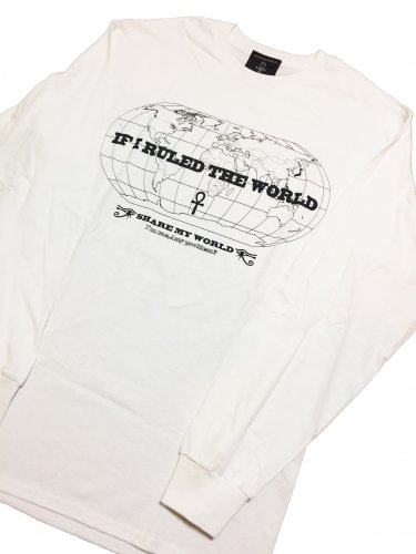 If I Ruled The World Long sleeve T-shirt【White,Black】