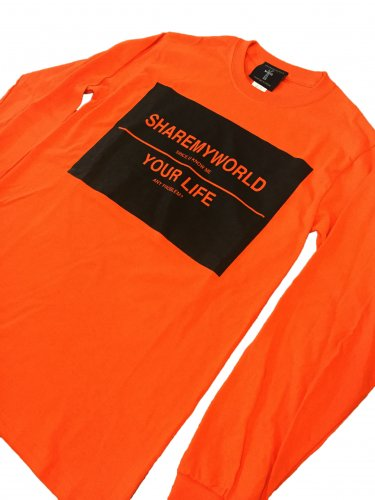 <img class='new_mark_img1' src='https://img.shop-pro.jp/img/new/icons15.gif' style='border:none;display:inline;margin:0px;padding:0px;width:auto;' />Big logo long sleeve T-shirt【orange】
