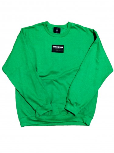 <img class='new_mark_img1' src='https://img.shop-pro.jp/img/new/icons15.gif' style='border:none;display:inline;margin:0px;padding:0px;width:auto;' />Line sweat shirt Rubber Patch/green