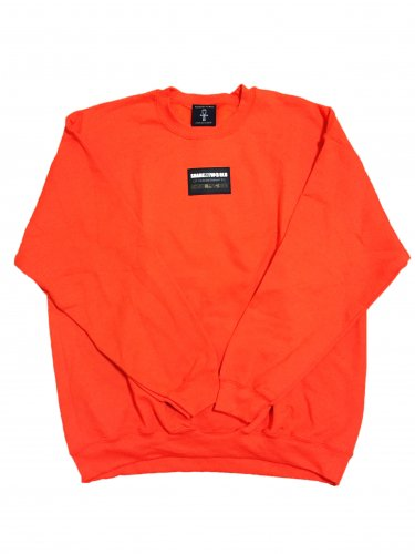 <img class='new_mark_img1' src='https://img.shop-pro.jp/img/new/icons15.gif' style='border:none;display:inline;margin:0px;padding:0px;width:auto;' />Line sweat shirt Rubber Patch/orange