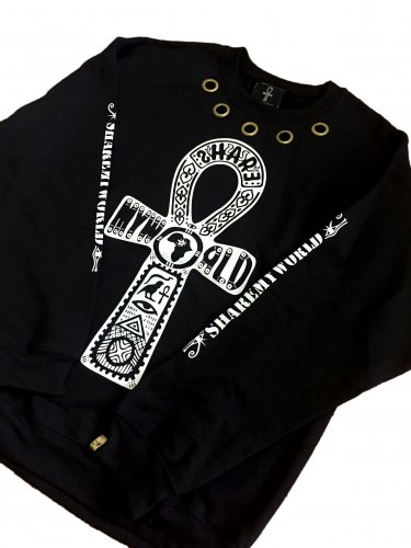 <img class='new_mark_img1' src='//img.shop-pro.jp/img/new/icons15.gif' style='border:none;display:inline;margin:0px;padding:0px;width:auto;' />Custom eyelet sweat shirt【black,white】