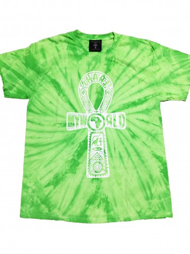 <img class='new_mark_img1' src='//img.shop-pro.jp/img/new/icons15.gif' style='border:none;display:inline;margin:0px;padding:0px;width:auto;' />Green spider Tie Dye T-shirt