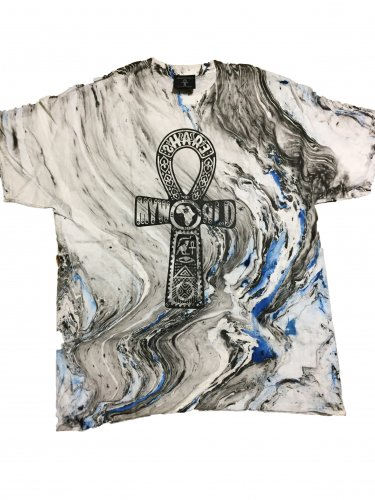 <img class='new_mark_img1' src='//img.shop-pro.jp/img/new/icons15.gif' style='border:none;display:inline;margin:0px;padding:0px;width:auto;' />Marble blue×black Tie Dye T-shirt