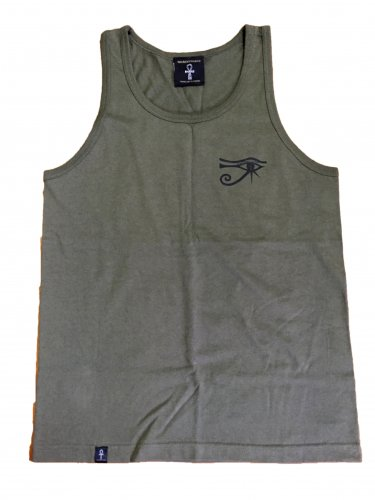 <img class='new_mark_img1' src='//img.shop-pro.jp/img/new/icons15.gif' style='border:none;display:inline;margin:0px;padding:0px;width:auto;' />Horus Ankh tank top【Khaki】