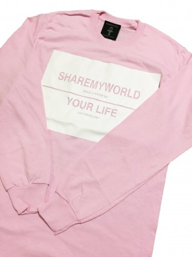 <img class='new_mark_img1' src='//img.shop-pro.jp/img/new/icons15.gif' style='border:none;display:inline;margin:0px;padding:0px;width:auto;' />Big logo long sleeve T-shirt【pink】
