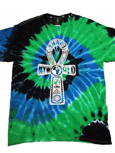 <img class='new_mark_img1' src='//img.shop-pro.jp/img/new/icons12.gif' style='border:none;display:inline;margin:0px;padding:0px;width:auto;' />Ankh Tie Dye T-shirt【Blue,Black,Green】