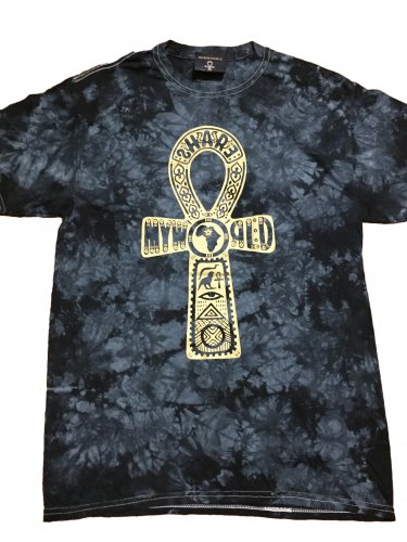 <img class='new_mark_img1' src='https://img.shop-pro.jp/img/new/icons12.gif' style='border:none;display:inline;margin:0px;padding:0px;width:auto;' />Ankh Tie Dye T-shirt【Black,Gold】