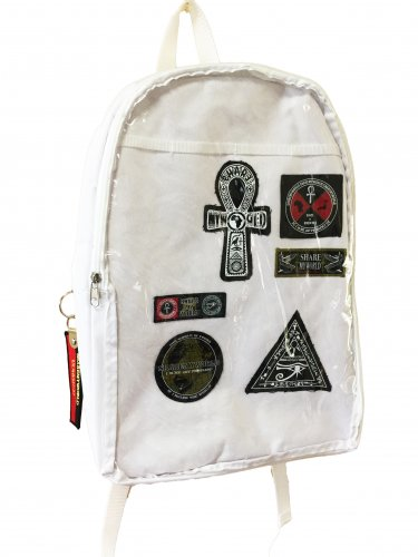 <img class='new_mark_img1' src='//img.shop-pro.jp/img/new/icons15.gif' style='border:none;display:inline;margin:0px;padding:0px;width:auto;' />Patchwork transparent backpack(White/Black)