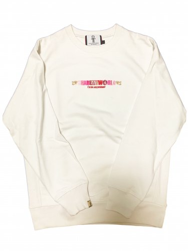 <img class='new_mark_img1' src='//img.shop-pro.jp/img/new/icons15.gif' style='border:none;display:inline;margin:0px;padding:0px;width:auto;' />Embroidery Sweatshirt【white】