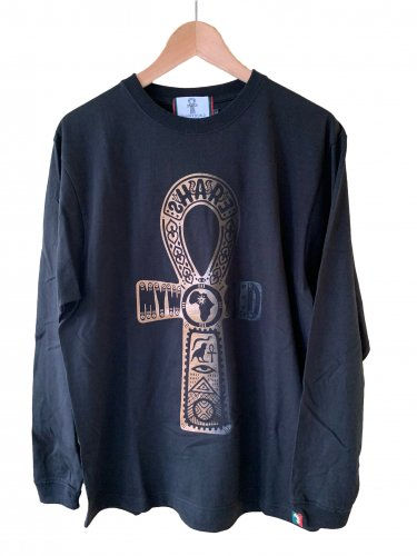 <img class='new_mark_img1' src='//img.shop-pro.jp/img/new/icons15.gif' style='border:none;display:inline;margin:0px;padding:0px;width:auto;' />Ankh Long sleeve T-shirt【Black×Gold】