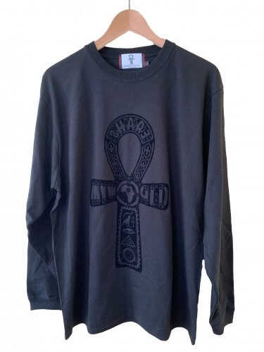 <img class='new_mark_img1' src='//img.shop-pro.jp/img/new/icons15.gif' style='border:none;display:inline;margin:0px;padding:0px;width:auto;' />Ankh Long sleeve flocking T-shirt【Black/Red】