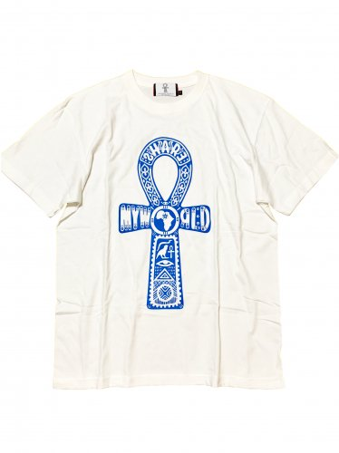 <img class='new_mark_img1' src='//img.shop-pro.jp/img/new/icons15.gif' style='border:none;display:inline;margin:0px;padding:0px;width:auto;' />Ankh T-shirt.【White×Blue】