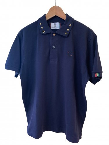 <img class='new_mark_img1' src='https://img.shop-pro.jp/img/new/icons15.gif' style='border:none;display:inline;margin:0px;padding:0px;width:auto;' />Polo shirt【navy】