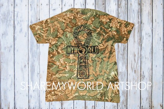 Ankh Tie Dye camo T-shirt