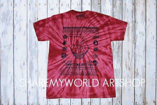 African Drum T-shirt【Tie Dye】