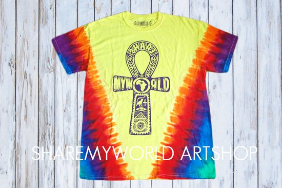 Ankh yellow T-shirt【Tie Dye】