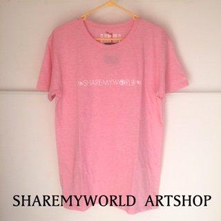 ANKH T-shirt【Pink×White Basic】