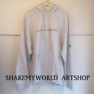 Ankh hoodie【Ash×Green】