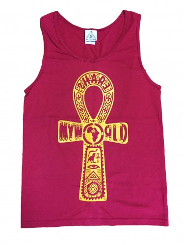<img class='new_mark_img1' src='//img.shop-pro.jp/img/new/icons16.gif' style='border:none;display:inline;margin:0px;padding:0px;width:auto;' />Ankh tank top【Cardinal red,Black】