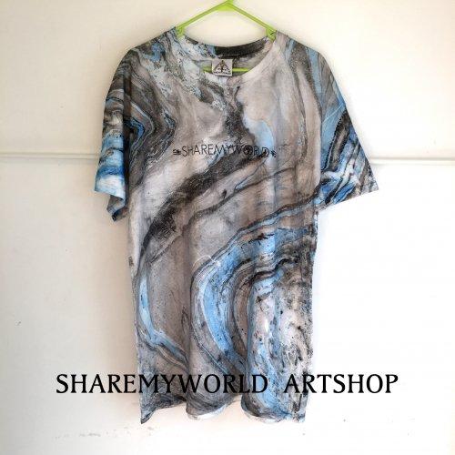Marble Blue Tie Dye T-shirt