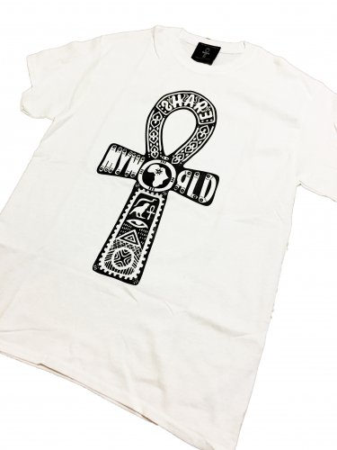 <img class='new_mark_img1' src='//img.shop-pro.jp/img/new/icons29.gif' style='border:none;display:inline;margin:0px;padding:0px;width:auto;' />ANKH T-shirt【White×Black Basic】