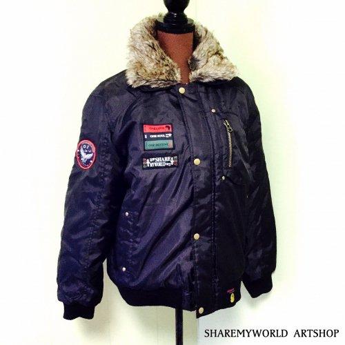 Flight jacket Custom1【Black×Gold】