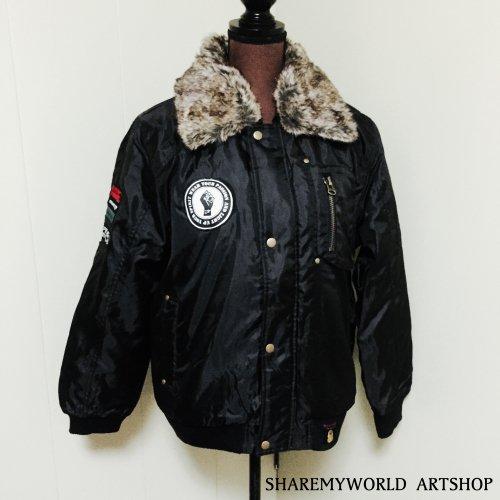 Flight jacket Custom2【Black×Gold】