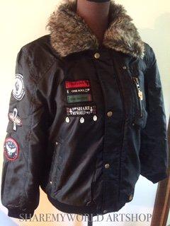 Flight jacket order made only【Black×Gold】
