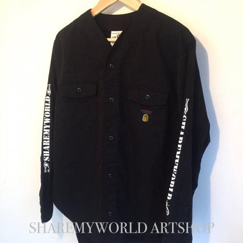 No-collar shirt.【Black】
