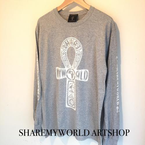 Ankh Long sleeve T-shirt【Black,White,Gray】