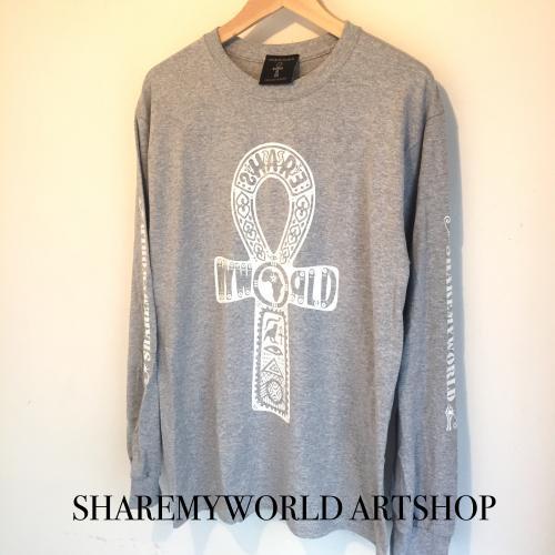 Ankh Long sleeve T-shirt【Black,White,Gray】