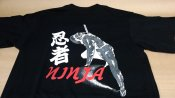 ★忍者 日本 FJK Tシャツ ブラック Lサイズ  BA-13-L コスプレ お土産 衣装