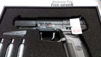 ★特マルシン FN・ファイブセブン アメージングトイ Amazing Toy・CO2ブローバック FIVE-SEVEN 黒 モデルガン/ガスブローバック初回生産70丁
