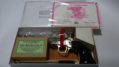 ★Rampant Classic ランパントクラッシック コルト SAA シビリアン クリスタル 4 3/4 バレルHW Colt 200丁 限定品 ガスガン