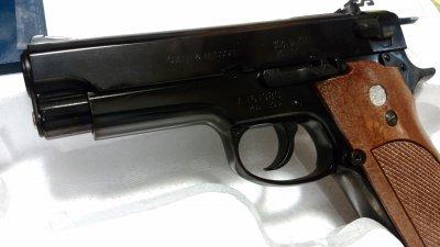 ★マルシン S&W M39 PFCブローバック 発火式  ABS2層ブラックメッキ モデルガン 完成品