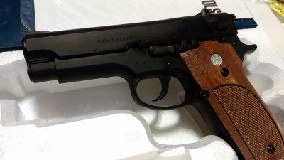 ★マルシン S&W M39 PFCブローバック 発火式  ABSブラックメッキ モデルガン 完成品
