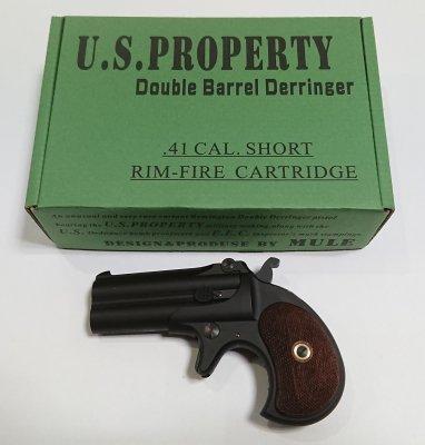 ★MULE ダブルバレルデリンジャー U.S.PROPERTY 発火式 CAW モデルガン