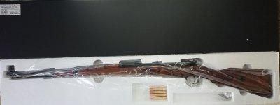 ★マルシン Mauser Kar98k モーゼル 黒 ABS ウォルナットストック カートリッジ式