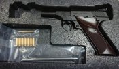 ★CAW COLT WOODSMAN コルト ウッズマン ショートバレル 飛葉タイプカスタム .22LR 黒 発火式 モデルガン