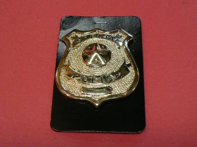 ★SPECIAL POLICE ゴールド ポリスバッジ 警察 レプリカ 送料500円