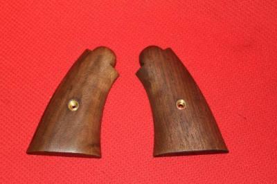 ★タナカ 純正 S&W M1917用 アメリカンウォールナット スムースグリップ 木製グリップ