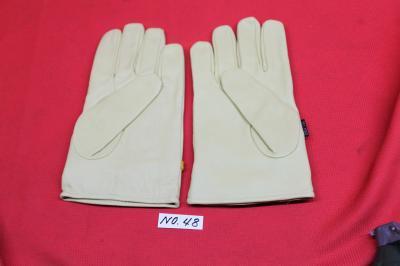 ★送料無料 MIL-TEC ミルテック 皮製 グローブ 薄い黄色 革製 手袋 防寒