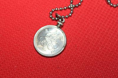 ★東京オリンピック 100円貨 記念コインペンダント 昭和39年 雑貨 TOKYO