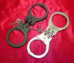 ★POLICE PEERLESS社製 USA 黒 ハンドカフ handcuff